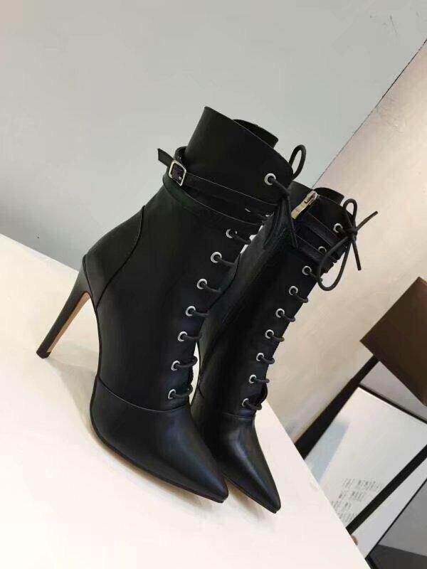 Femmes 10 cm à talons hauts chaussures de Sexe cheville boot Pour femme en cuir de Vache Bottes danse partie Déesse D'affaires Paris designer Star