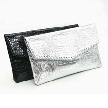 Clutches Women Shoulder Clutch Envelope Bag Fashion Large Size Hand Ladies Day Black Silver Bags Purse