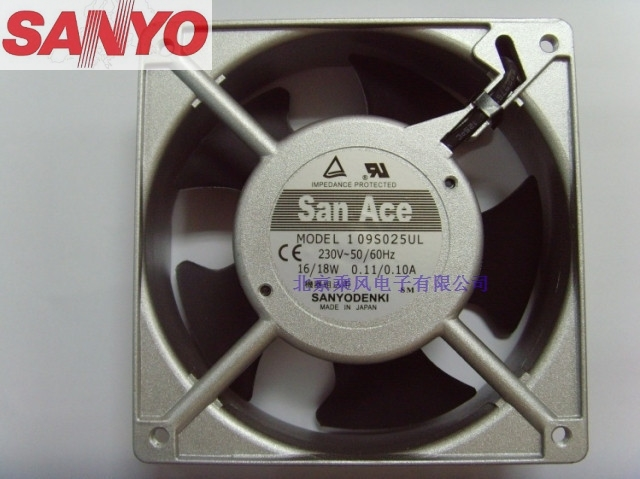 Sanyo 109S025UL 12038 120mm 12cm AC 220V 0.11A 16/18W server inverter cooling fan original delta afc1212de 12038 12cm 120mm dc 12v 1 6a pwm ball fan thermostat inverter server cooling fan