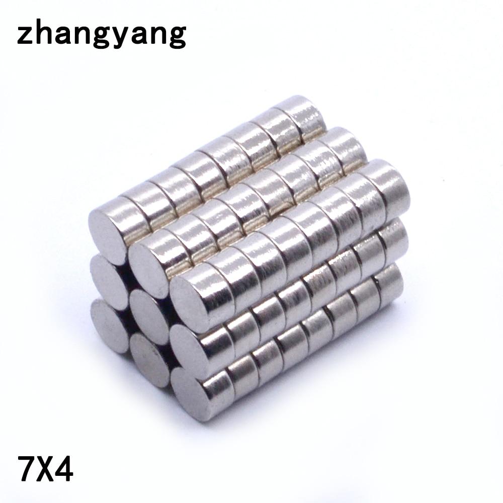 N50 5 Stücke-20 Stücke 7x4mm Super Starke Rare Earth Disc 7*4mm Kühlschrank Dauermagnet 7mm X 4mm Kleine Runde Neodym Magnet ZuverläSsige Leistung Magnetische Materialien