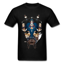 Marvel Tshirt Japan Anime T-shirt Men Howls Moving Castle T Shirts Print Summer Clothes 100% Cotton O Neck Slim Fit Tops Tees