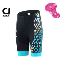 CHEJI Womens Mountain Bike Shorts Skull Bicycle Cycling Short Pants With Pad