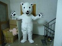 Новый Polar bear костюм талисмана мультфильм кукла взрослый размер бесплатная доставка