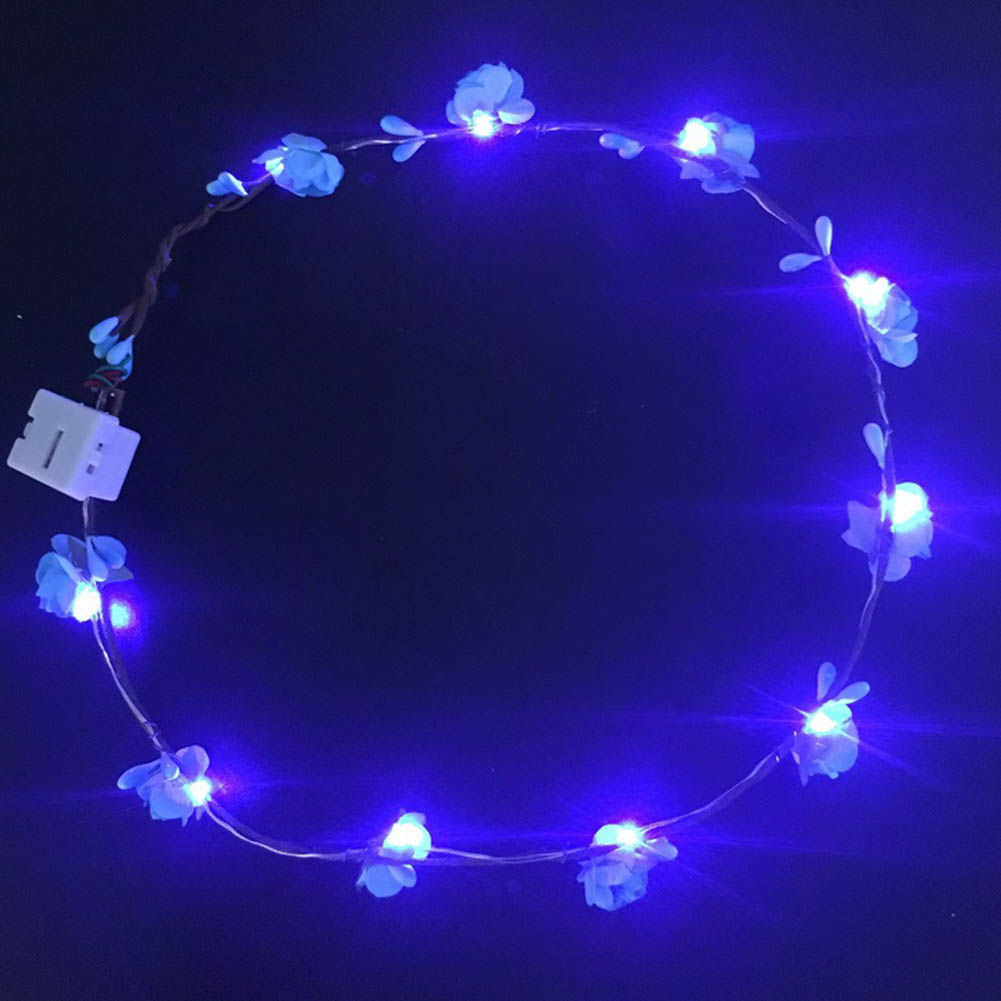 Light wreath headdress Children Toy veil flash wreath led rosette hot Kids Gift