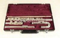 Бренд посеребренные флейта Юпитер JFL 5011E Малый изогнутые головы флейты 16 отверстий закрыты C мелодия музыкальный инструмент флейта с случае