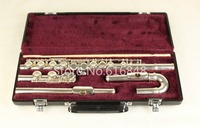 Brand Silver Plated Flute Jupiter JFL 5011E Small Curved Heads Flutes 16 Holes Closed C Tune Musical Instrument Flute With Case