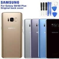 Cubierta Original de la batería trasera de SAMSUNG para Samsung Galaxy S8 G9500 S8 Plus S8 + SM-G9550 funda trasera de cristal