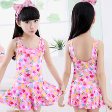 Baby Girls Swimsuits Cute Floral One Pieces Swimwear 2019 Summer Children Beach Swim Skirt Suits Kids Bathing Suits for Girls