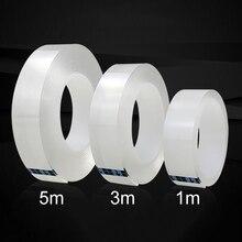 1/3/5/10 м 1 мм нано лента-липучка «Magic Tape» двусторонний скотч Двухсторонняя клейкая никаких следов акриловые Водонепроницаемый клейкая лента моется