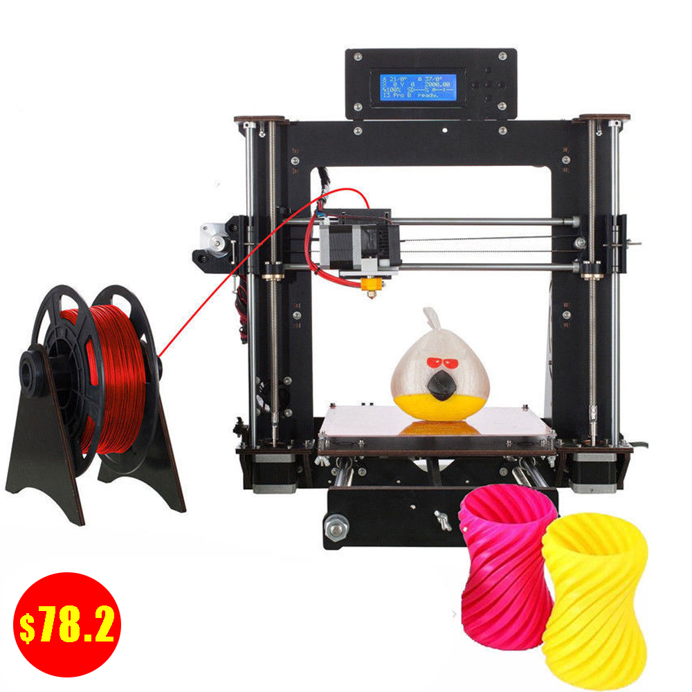 Cheap Prusa i3  3D Printer Wood Frame High Precision Impressora  USA StockCheap Prusa i3  3D Printer Wood Frame High Precision Impressora  USA Stock