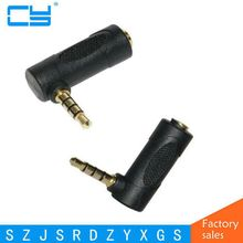 Plug Elbow right angle 3.5mm male to female audio connector 90 degree adapter gold plated free shipping