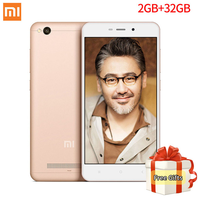 Global Vesion Xiaomi Redmi 4A 4 A 32GB ROM 2GB RAM Mobile Phone Snapdragon 425 Quad Core 5.0 Inch 13.0MP camera 3120mAh MIUI 8.1