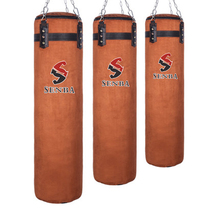 цена 120cm Cowhide Kick Boxing Punching Bag Sandbag For Adult MMA Muay Thai Taekwondo Sport Fitness Training Exercise Equipment boxe