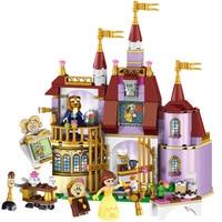 New 379 Pcs Dream Princess Belle's Magic Enchanted Castle Building Blocks Beautiful Beast Model Set Gift Toys For Children