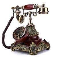 European Fashion Vintage Telephone Swivel Plate Rotary Dial Antique Telephones Landline Phone Office Home Hotel telefono fijo