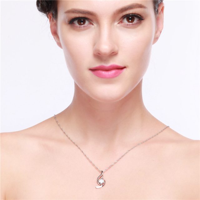Mother Day Vintage Crystal Zircon Necklace Pendant