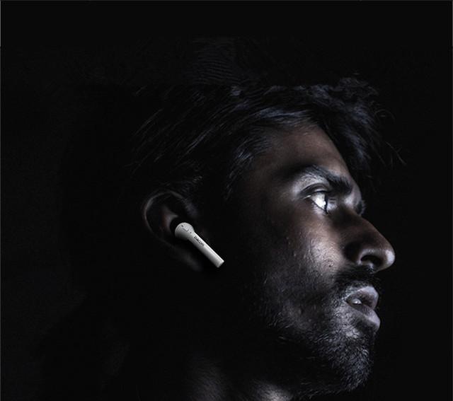 Dacom mini dual bluetooth fone de ouvido estéreo sem fio fones de ouvido fone de ouvido de redução de ruído para iphone7 airpods com caixa de armazenamento