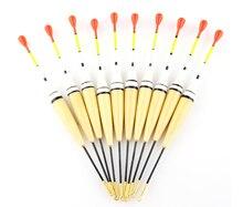 2G 14cm 10pcs/set new fishing float fortune paulownia wood fishing light stick float for fishing