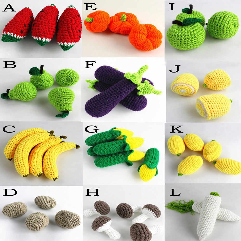 יילוד צילום Props אביזרי פירות ירקות תינוק Photographie Fotografie ילדים בנות בני הסרוגה סרוג כורכת