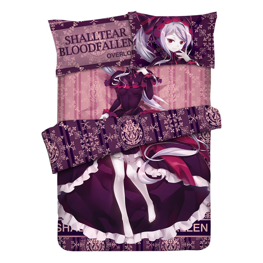 Overlord Shalltear Bloodfallen Anime Bedding Sheet Bedding Sets Bedcover Pillow Case 4PCS