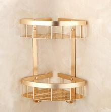 Dofaso bathroom accessories chrome bronze shower shelf bath room corner bracket on wall decorative rack