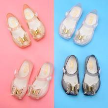 Новые сандалии для девочек желе обувь дышащая версия кристалл лук обувь для принцессы сандалии ПВХ Нескользящие Дети Малыш обувь
