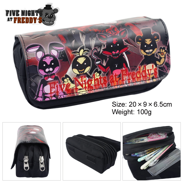 Five Nights At Freddys Boys Girls Cartoon Pencil Case Bag School Pouches Children Student Pen Bag Kids Purse Wallet Gift