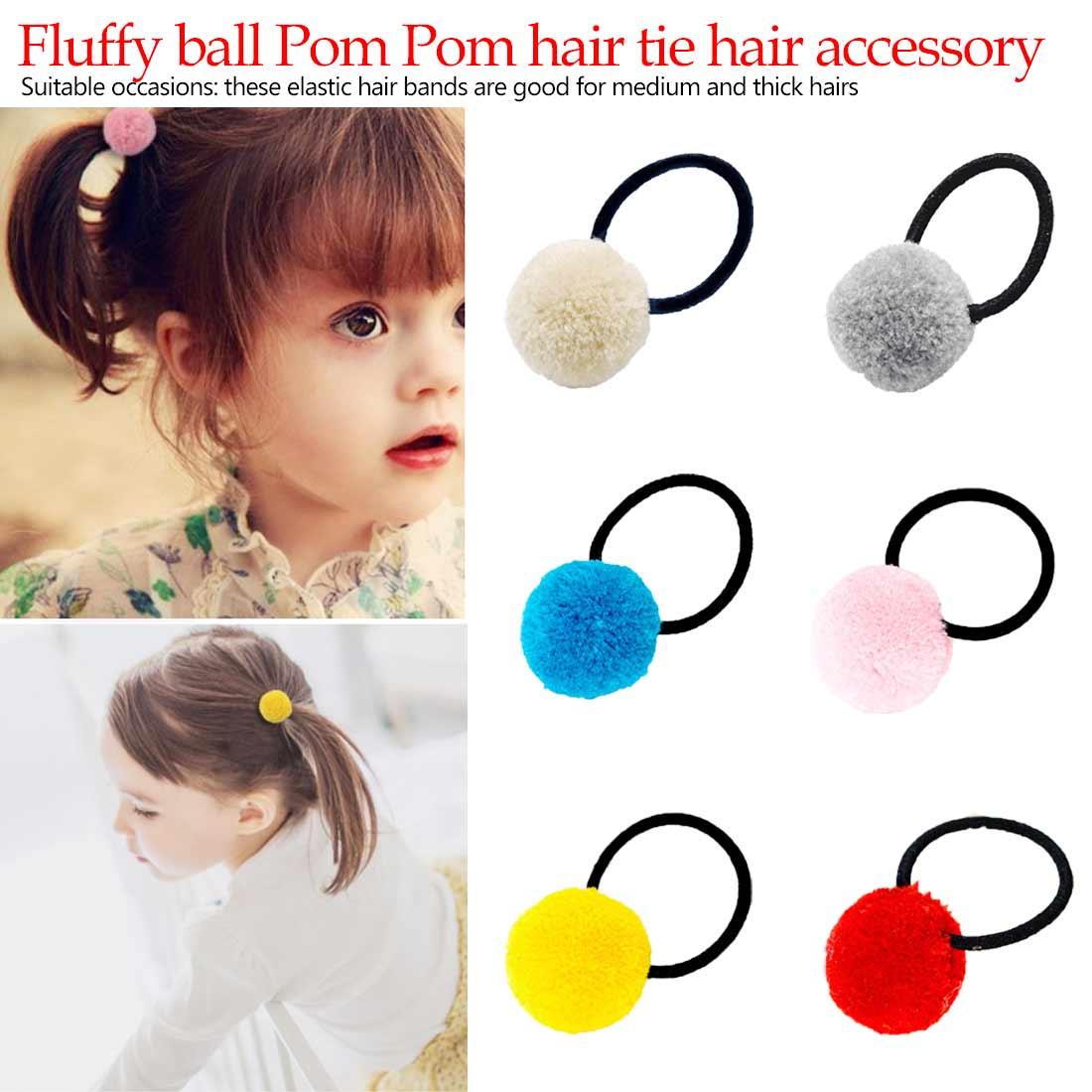 Simple Cute Girls Hair Ties Ball Hair Band Ropes Peach Snap Hair Clip Hair Accessories in Girl 39 s Hair Accessories from Apparel Accessories