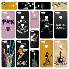 Fulcol Rock roll Transparent Fashion Shell case cover para for Xiaomi Redmi Note 3 4 4X 5 Puls 4A 5A 6A Mi5X A1 4Pro(China)