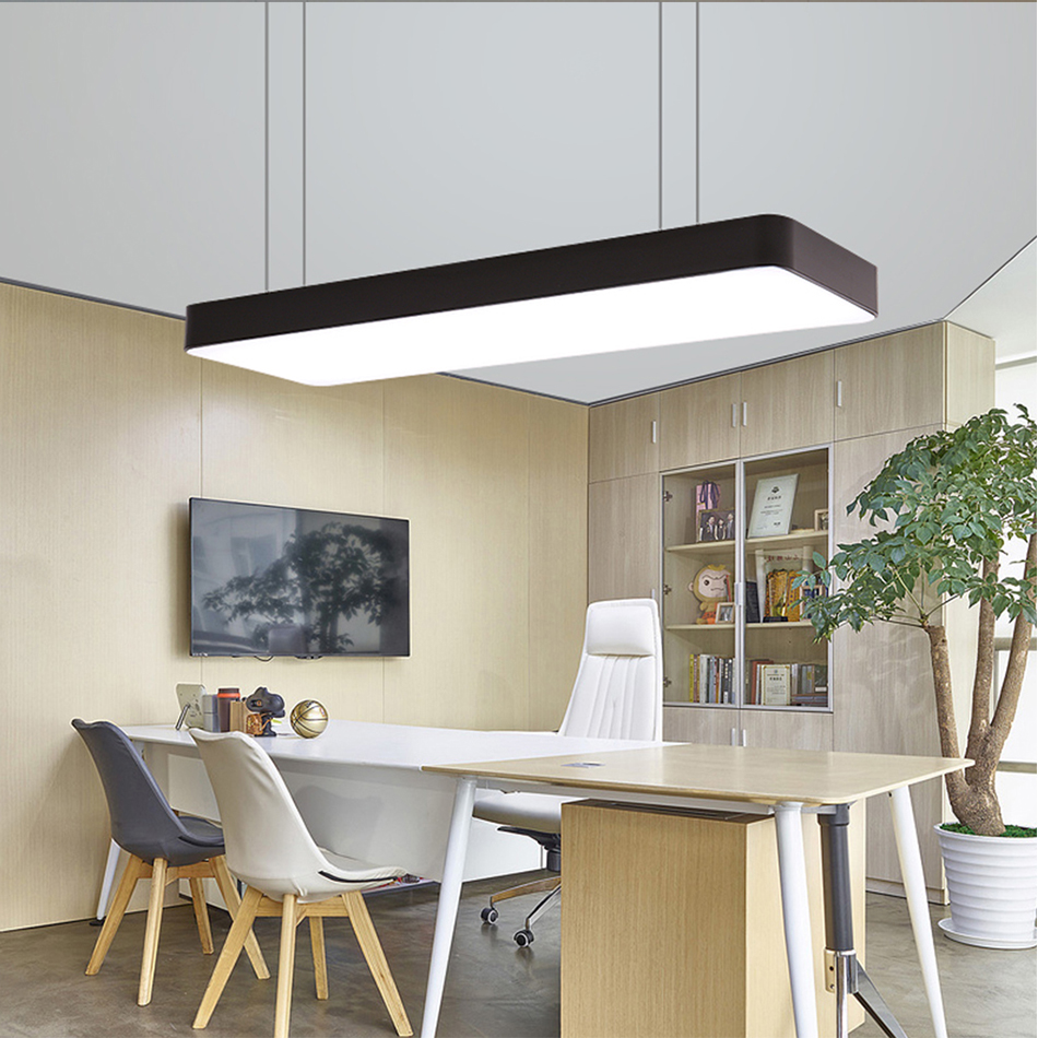 HTB1zY8tAuGSBuNjSspbq6AiipXaH LED Modern Ceiling Light Lamp dimmable Surface Mount Panel Rectangle Lighting Fixture Bedroom Living Room office light 110V 220V