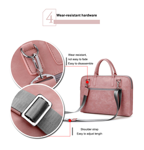 Image 5 - Fashion PU waterproof Scratch resistant Laptop Shoulder Bag 13 14 15.6 inch for MacBook Air Notebook Shoulder Carry Case