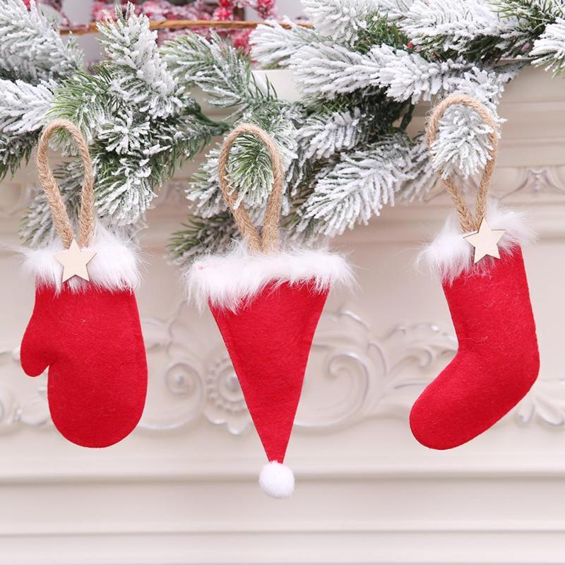 90a380db3f8 Mini Decoración Ornamento Estacional De Madera Adorno Árbol Navidad  Festival familia Casa
