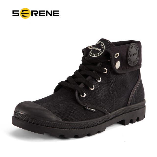 SERENO Unas Zapatillas de Lona Zapatos Para Hombre Negro Tobillo Botas de Invierno Con Cordones Botas de Moda Botas Casual Confort Pareja Botas Chukker 3230