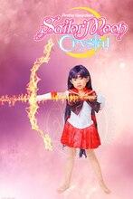 Sailor Moon Кристалл Сейлор Марс Хино Рей Боевые Униформа для Детей Аниме Косплей Костюм