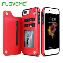 Floveme телефон сумка чехол для iPhone 7 6 6 S плюс кожаная визитница Подставка телефон Чехлы для iPhone 6 6 s 7 Plus чехол