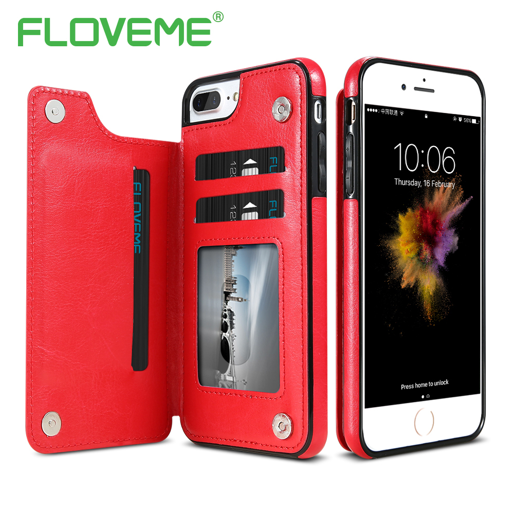 21a9c8f3e91 FLOVEME Phone Case For IPhone XS Max XR X 8 7 6 6S Plus Leather Card Holder  Kickstand Cases For IPhoneX XS 6 7 8 Plus Case Cover