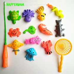 14pcs set magnetic fishing toy game kids 1 rod 1 net 12 3d fish baby bath.jpg 250x250