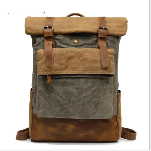 8796a8a1da Men Backpack Canvas Large Backpack Travel Bags For Men Women Vintage ...