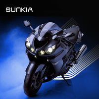 SUNKIA LED Welcome Lamp Angel Wings Light Projector Ghost Shadow Puddle For All Cars And Motorcycles
