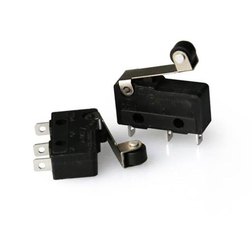 3pcs anet Limit Switch module optical ends3pin N/O N/C 5A 250VAC Handle KW11-3Z Mini Sensitive MicroSwitch 3d printer parts