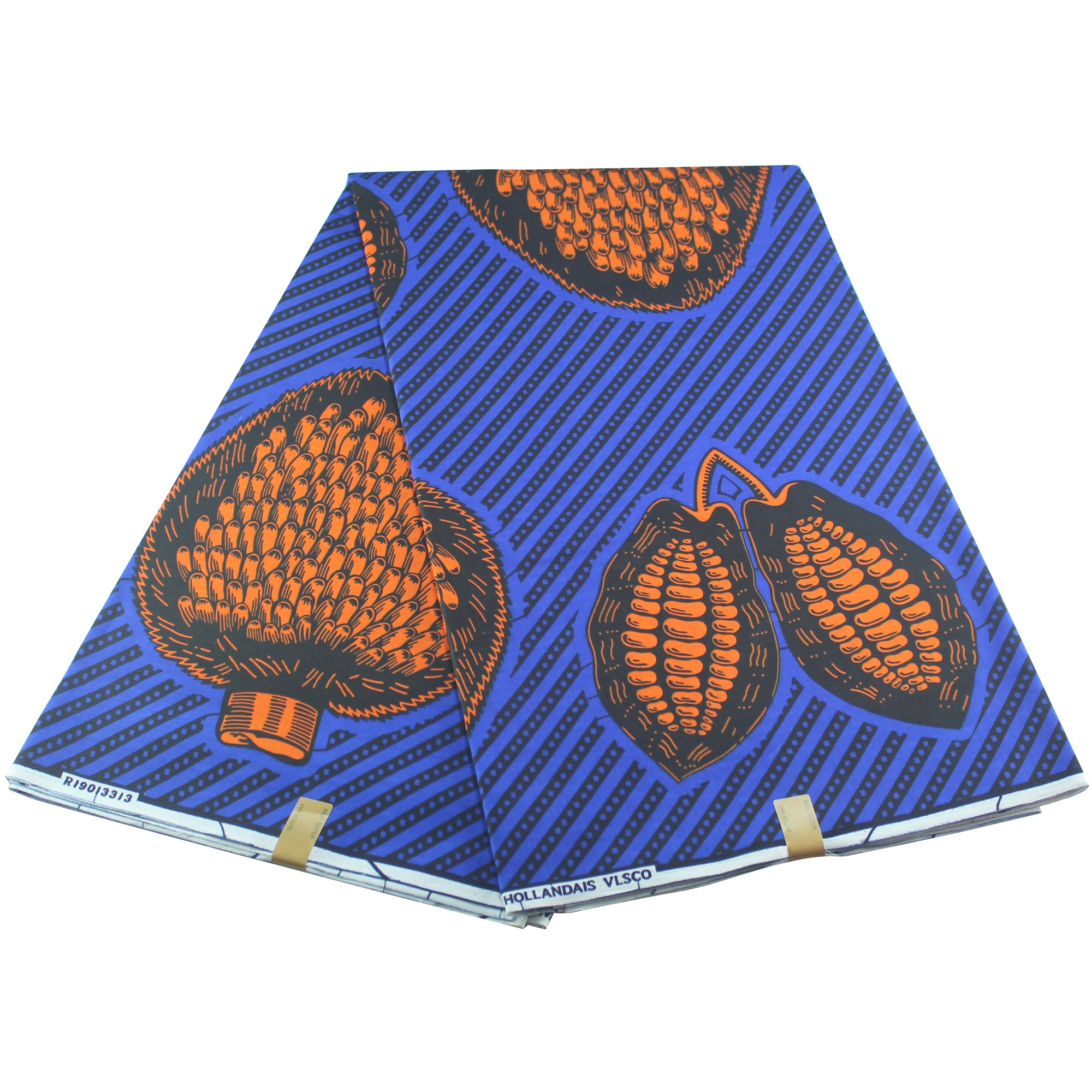 2019 Blue Popular Wax Fabric Cloth African Wax Prints Fabric For Party Dress Cotton Sewing Fabric