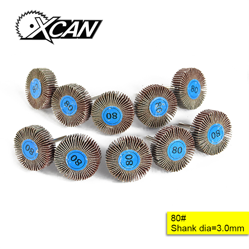 XCAN 10pcs 80# Impeller Grinding Wheel For dremel rotary accessories tools for grinding polishing 47pcs set wool felt polishing buffing wheel grinding pad 2pc 3mm shank for dremel grinding wheel tool accessories rotary felt
