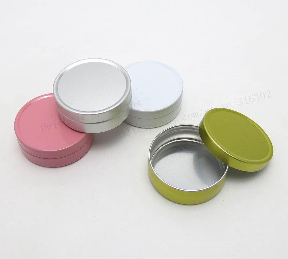 100pcs 10G Aluminum Jar 10cc metal Cosmetic Packaging Container 1 3oz professional cosmetics container