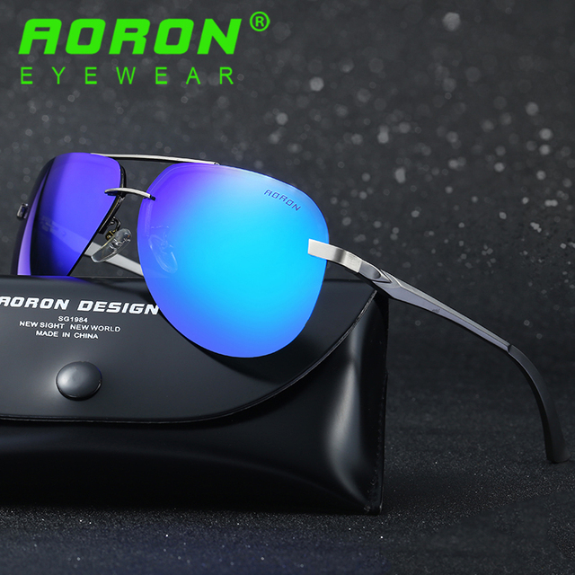 9775881b18 Aoron Brand Designer Driving Polarized Sunglasses Goggles Reduce Glare  Color Sun Glasses Mirror UV400 A143 for Men Women