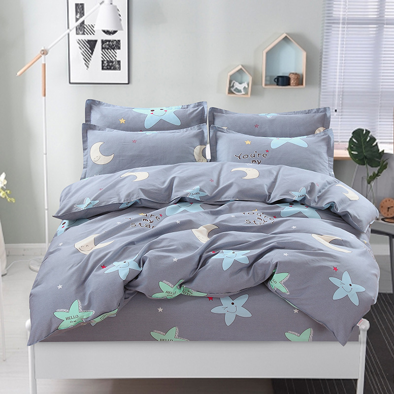 100% Cotton Nordic Style Bedding Set 4pcs Quilt Cover Geometric King Queen Twin Duvet Cover Bed sheet Fitted sheet Pillowcase100% Cotton Nordic Style Bedding Set 4pcs Quilt Cover Geometric King Queen Twin Duvet Cover Bed sheet Fitted sheet Pillowcase