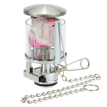 60LUX Mini Portable Camping Lantern Gas Light Outdoor Tent Lamp Torch Hanging Glass as Fuel for Travel