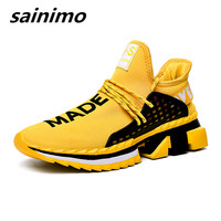 2019 Yellow Casual Shoes For Men Fashion Sneakers Summer Spring Skidding Mans Footwear Comfortable Men's shoes Tenis Masculino