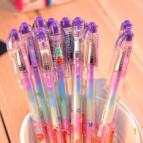 Эллен Брук 1 шт. корейский Канцелярские мультфильм милый прекрасный карамельный цвет гелевые ручки товары для школьников шт.. с 7 цветов