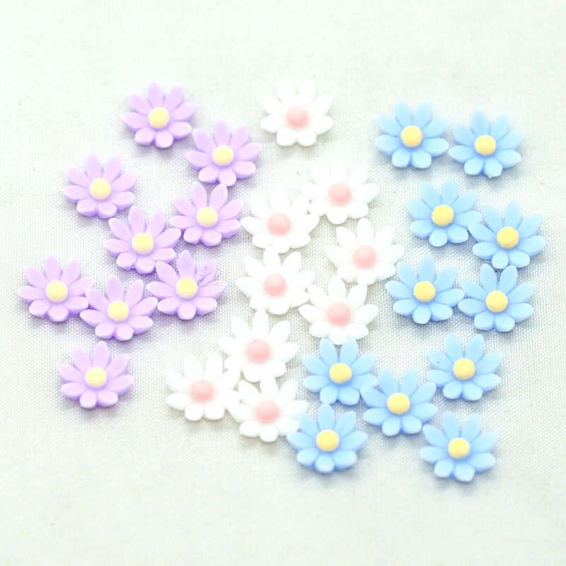 8 мм, милые маленькие цветы из смолы с плоской задней поверхностью, сделай сам, крафт цветы, миниатюрные цветы, украшения для вечеринок, украшения ногтей, цветы Принадлежности для рукоделия      АлиЭкспресс