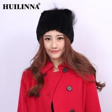 Ms hat winter mink fur the whole mink hat beret thickening warm earmuffs for winter hat fashion women